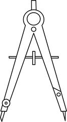 Zirkel-Grafik - Schnellverstell-Zirkel, Zirkel, Zeichengerät, zeichnen, Mathematik, Radius, Konstruktion, Geometrie, Kreis, Kreise, Schenkel, Anlaut Z