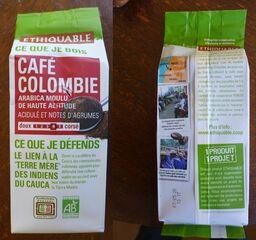 Café de Colombie - café, colombie, équitable, éthiquable, indien, cauca