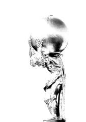 Atlas-Figur sw - Atlas, Titan, griechische Mythologie, erdulden, Kulturgut, Skulptur, Himmelsträger