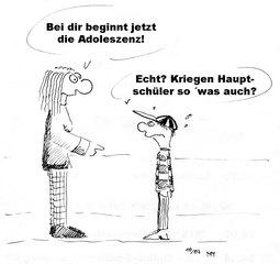 Pubertät (Cartoon I) - Pubertät, Jungen, Junge, Kevin, Pascal, Cartoon, Adoleszenz