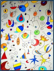 Bilder nach Vorlagen von Miro - Kunst, Miro, bunt, Vorlage