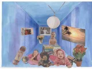 Collage Kunstunterricht Klasse 7 - 9 - Kunst, Collage, Perspektive, Zeichnen, Kleben