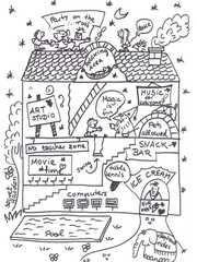 Traumschule - Traumschule, Zeichnung, Gegenstände, Vokabeln