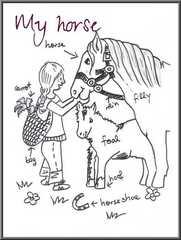 My hobby - Englisch, Poster, Vokabeln, Hobby, Pferd, Hobby