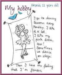 My hobby - Englisch, Hobby, Vorlage, Mustertext