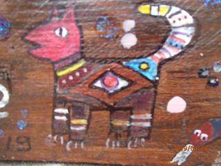 Indianer Malerei - Kunst der Indianer, Holz, Malerei, Vorlage, Muster, Indianermuster, Tier