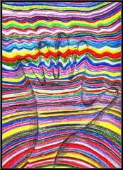 Op Art Hand - Hand, Kunstunterricht, Buntstifte, Filzstifte