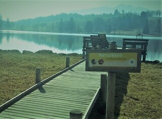 Naturkino - Natur, Kino, Idee, Blick, Berge, See, Erholung, Entspannung, träumen.