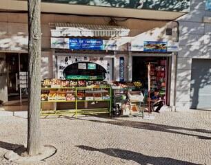Lissabon Geschäft #1 - Portugal, Lissabon, Geschäft, Frucht, Früchte, kaufen, Sprache, portugiesisch, Frutaria, Landeskunde, Melone, Auslage, Werbung