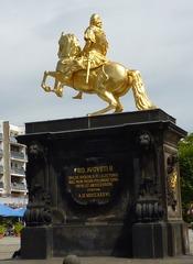 Goldener Reiter Dresden - Goldener Reiter, Dresden, Reiterstandbild, Kurfürst, August des Starke, Neustädter Markt, Denkmal, Kulturdenkmal, Skulptur, Barock