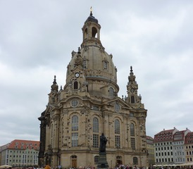 Frauenkirche Dresden - Dresden, Frauenkirche, Dresden Altstadt, Kirche, Sakralbau, Sandsteinbau, Kuppelbau, Zentralbau, Barock