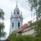 Stift Dürnstein - Stift Dürnstein, Wahrzeichen Wachau, ehemaliges Kloster, Pfarrkirche