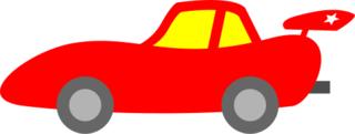 Rennwagen - Rennwagen, rot, Auto, PKW, Kraftfahrzeug, fahren, Geschwindigkeit, Tempo, Cartoon, Comic, Illustration, Rennsportwagen, Rennfahrzeug, Automobilsport