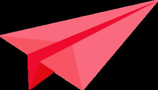 Papierflieger - ROT - Papierflieger, Flieger, Flugzeug, Gleiter, fliegen, gleiten, Papier, falten, Origami, Wind, Luft, Auftrieb, Luftwiderstand, Grafik, Illustration, Clipart, Papier, falten, Antrieb, Experiment, Technik, Gleiter