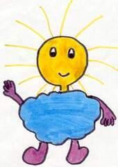 Wetter Maxi 2 - Wetter, Wettermännchen, Sonne, Wolke