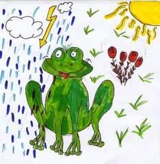 Aprilwetter - Wetter, Frosch, Gewitter, Sonne, Wolken, Blitz, Wetteränderung, Wetterkapriolen, wechselhaft, meteorologische Phänomen