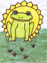Sonnenfrosch - Wetter, Sonne, Frosch, Schönwetter
