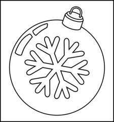 Christbaumkugel 2f - Christbaumkugel, Christbaumschmuck, Weihnachtsschmuck, Weihnachtskugel, Kugel, Weihnachtsdekoration, Dekoration, Deko, Brauchtum, Tradition, weihnachtlich, Stimmung, besinnlich, Ornament, Schneeflocke, Umriss, Umrisszeichnung, Illustration