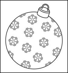 Christbaumkugel 3f - Christbaumkugel, Christbaumschmuck, Weihnachtsschmuck, Weihnachtskugel, Kugel, Weihnachtsdekoration, Dekoration, Deko, Brauchtum, Tradition, weihnachtlich, Stimmung, besinnlich, Ornament, Schneeflocke, Schneeflocken, Umriss, Umrisszeichnung, Illustration