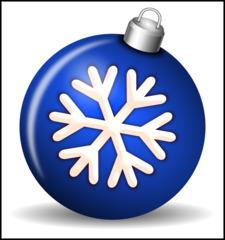 Christbaumkugel 2d - Christbaumkugel, Christbaumschmuck, Weihnachtsschmuck, Weihnachtskugel, Kugel, Weihnachtsdekoration, Dekoration, Deko, Brauchtum, Tradition, weihnachtlich, Stimmung, besinnlich, blau, Ornament, Schneeflocke, Illustration
