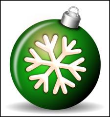 Christbaumkugel 2c - Christbaumkugel, Christbaumschmuck, Weihnachtsschmuck, Weihnachtskugel, Kugel, Weihnachtsdekoration, Dekoration, Deko, Brauchtum, Tradition, weihnachtlich, Stimmung, besinnlich, grün, Ornament, Schneeflocke, Illustration