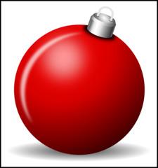 Christbaumkugel - Christbaumkugel, Christbaumschmuck, Weihnachtsschmuck, Weihnachtskugel, Kugel, Weihnachtsdekoration, Dekoration, Deko, Brauchtum, Tradition, weihnachtlich, Stimmung, besinnlich, rot, Illustration