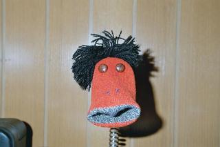 Fu - FU, Handpuppe, Grundschule, Socke, Sockenpuppe, Handpuppe, Strumpf, spielen, Spielzeug, Wolle