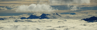 Bergspitzen - Osttirol, Kärnten, Pustertal, Lienz, Berg, Berge, Alpen, Gipfel, Wolken, Wolkenmeer, Wolkendecke, Wanderung, wandern, alpin