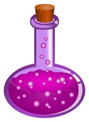 Zaubertrank - Zaubertrank, Trank, Zauber, Magie, Gebräu, Elixier, Zauberei, Flakon, Flasche, Korken, mystisch, Flüssigkeit, Illustration, Chemie, Gemisch, Glas, Rundkolben, verkorkt, Laborgeräte