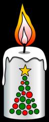 Kerze - Kerze, Flamme, Feuer, Wachs, Weihnachten, Weihnachtsdekoration, Vorweihnachtszeit, brennen, Licht, heiß, hell, leuchten, Lichtquelle, warm, tropfen, fließen, hell, Anlaut K, Illustration, Wörter mit z