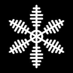 Schneeflocke 9a - snowflake, Schneeflocke, Schneestern, Schneekristalle, Eiskristalle, schneien, Winter, winterlich, Schnee, kalt, Eis, Einzahl, Singular, Eiskristall, Schneekristall, Anlaut Sch, Umriss, Umrissbild, Illustration