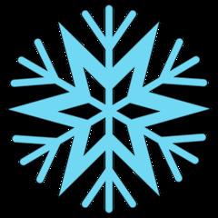 Schneeflocke 5b - snowflake, Schneeflocke, Schneestern, Schneekristalle, Eiskristalle, schneien, Winter, winterlich, Schnee, kalt, Eis, Einzahl, Singular, Eiskristall, Schneekristall, Anlaut Sch, blau, Illustration