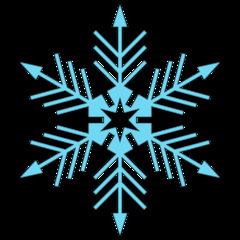Schneeflocke 6b - snowflake, Schneeflocke, Schneestern, Schneekristalle, Eiskristalle, schneien, Winter, winterlich, Schnee, kalt, Eis, Einzahl, Singular, Eiskristall, Schneekristall, Anlaut Sch, blau, Illustration