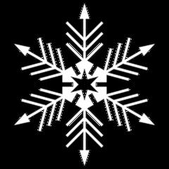 Schneeflocke 6a - snowflake, Schneeflocke, Schneestern, Schneekristalle, Eiskristalle, schneien, Winter, winterlich, Schnee, kalt, Eis, Einzahl, Singular, Eiskristall, Schneekristall, Anlaut Sch, Umriss, Umrissbild, Illustration