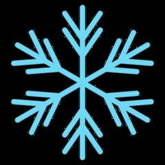 Schneeflocke 8b - snowflake, Schneeflocke, Schneestern, Schneekristalle, Eiskristalle, schneien, Winter, winterlich, Schnee, kalt, Eis, Einzahl, Singular, Eiskristall, Schneekristall, Anlaut Sch, blau, Illustration