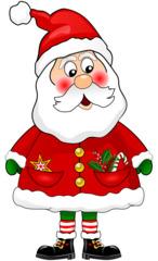 Weihnachtsmann - Weihnachten, Weihnachtsmann, Santa Claus, Familienfest, Heiligabend, Brauchtum, Symbolfigur, Nordpol, Illustration, Père de Noel