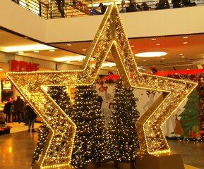 Weihnachtsdeko - Weihnachtsdekoration, Stern, Lichter, Lichterketten, Beleuchtung, Weihnachten