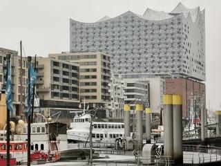 Hamburg Elbphilharmonie - Hamburg, Hansestadt, Hafenstadt, Aussicht, Hafen, Elbe, Speicherstadt, Hanse, Kultur, Elbphilharmonie, Architektur