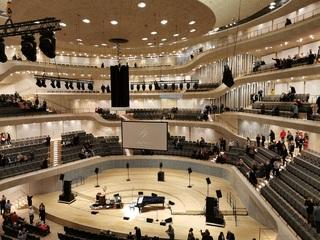 Hamburg Elbphilharmonie, großer Saal - Hamburg, Hansestadt, Hafenstadt, Aussicht, Hafen, Elbe, Speicherstadt, Hanse, Kultur, Elbphilharmonie, Saal, Ort, Architektur, Bühne, Akustik