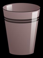 Becher 8 - Becher, Pappbecher, Trinkbecher, Trinkgefäß, trinken, Mehrwegbecher, Plastikbecher, Kunststoffbecher, Einwegbecher, Hartpapierbecher, Geschirr, Anlaut B, Illustration, grau