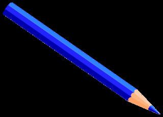 Buntstift 9 - Buntstift, Farbstift, Holzstift, Stift, Schreibgerät, Malutensil, Utensil, Kunst, schreiben, malen, zeichnen, aufschreiben, notieren, Notiz, Illustration, dunkelblau