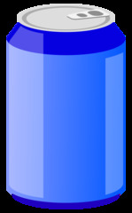 Getränkedose 2 - Getränkedose, Aluminiumdose, Dose, Pfanddose, Getränk, trinken, Erfrischung, Blech, Metall, Alu, Pfand, Limonade, Energiedrink, Softdrink, blau, Illustration