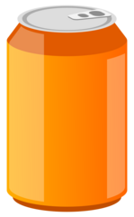 Getränkedose 3 - Getränkedose, Aluminiumdose, Dose, Pfanddose, Getränk, trinken, Erfrischung, Blech, Metall, Alu, Pfand, Limonade, Energiedrink, Softdrink, orange, Illustration