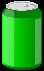 Getränkedose 4 - Getränkedose, Aluminiumdose, Dose, Pfanddose, Getränk, trinken, Erfrischung, Blech, Metall, Alu, Pfand, Limonade, Energiedrink, Softdrink, grün, Illustration