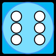 Würfel - Würfel, Würfelseite, Würfelgesicht, Punkte, Augen, Sechs, blau, Illustration, Clipart