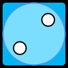 Würfel - Würfel, Würfelgesicht, Würfelseite, Würfelbild, Spielwürfel, Augen, Augenzahl, Punkte, Zufall, Glück, rechnen, würfeln, spielen, Illustration, Clipart, Zwei, blau