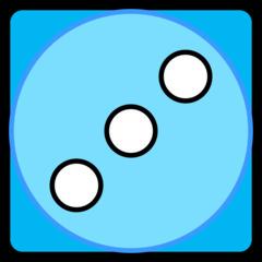 Würfel - Würfel, Würfelgesicht, Würfelseite, Würfelbild, Spielwürfel, Augen, Augenzahl, Punkte, Zufall, Glück, rechnen, würfeln, spielen, Illustration, Clipart, Drei, blau