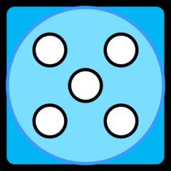 Würfel - Würfel, Würfelgesicht, Würfelseite, Würfelbild, Spielwürfel, Augen, Augenzahl, Punkte, Zufall, Glück, rechnen, würfeln, spielen, Illustration, Clipart, Fünf, blau