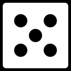Würfel - Würfel, Würfelgesicht, Würfelseite, Würfelbild, Spielwürfel, Augen, Augenzahl, Punkte, Zufall, Glück, rechnen, würfeln, spielen, Illustration, Clipart, Fünf