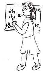 Lehrerin - Schule, lernen, lehren, Lehrer, Lehrerin, Tafel, zeigen, erklären, Bildung, ausbilden